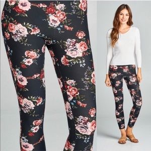 WILA Black Floral Soft Peachskin Leggings